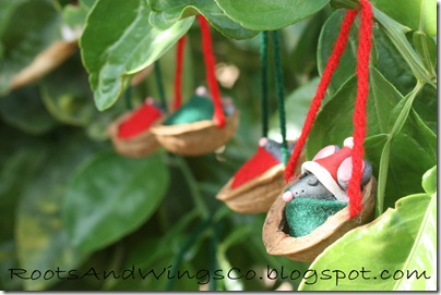 retro walnut mouse ornament 4