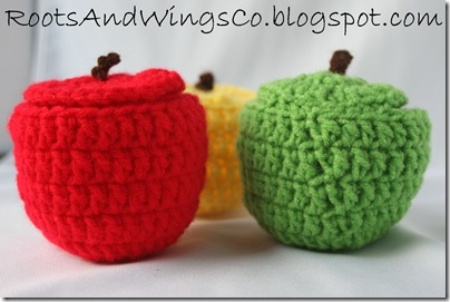 crocheted apple c