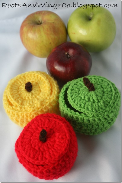 crocheted apple b
