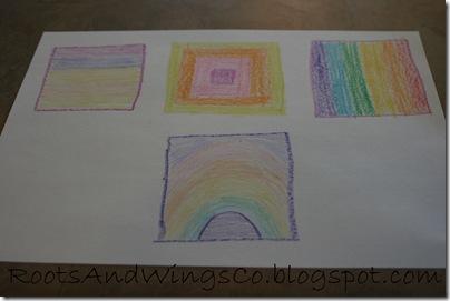 crayon etching f