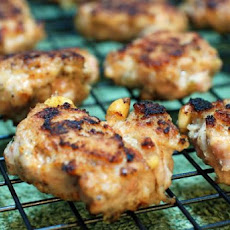 Chicken & Pine Nut Mini Burgers