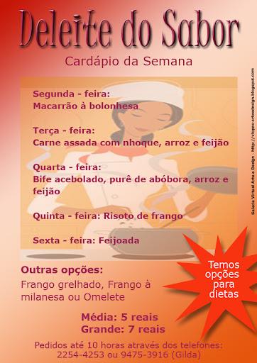Nombre De Armario Judio ~ Ateli u00ea Canto da Arte Cardápio Deleite do Sabor