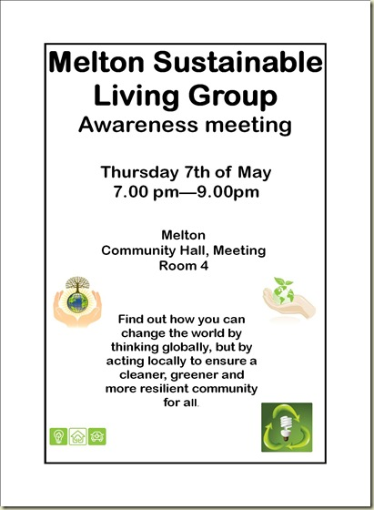 MSLG awareness meeting May 7th 2009, flyer