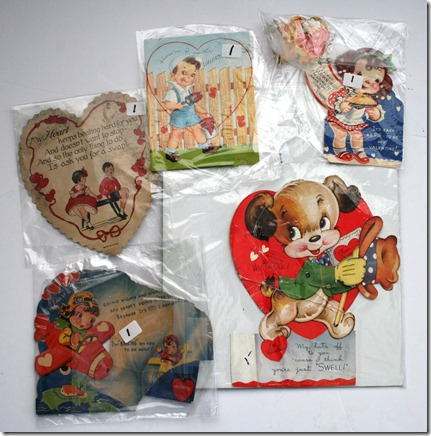 Vintage V-day Cards - 50c ea