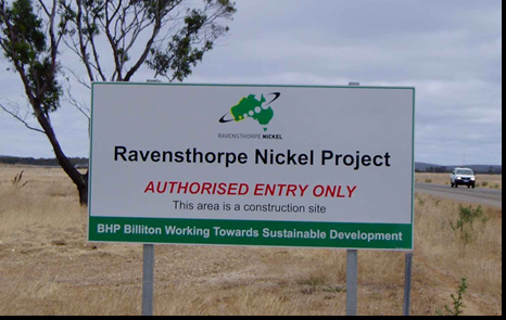 ravensthorpe  mine closedown