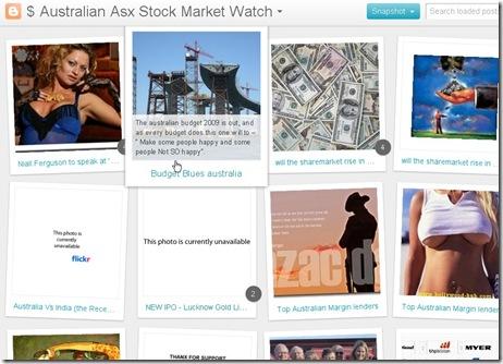australian stock market website ASX Snapshot