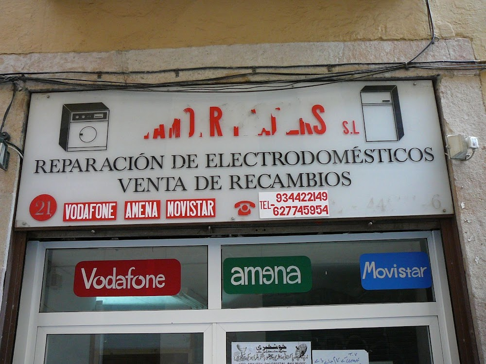 Phone shop in Barcelona's Raval district.
