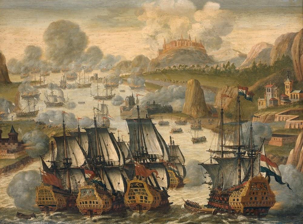 <a href='http://commons.wikimedia.org/wiki/File:Battle_of_Vigo_bay_october_23_1702.jpg'>Zeeslag in de baai van Vigo</a>