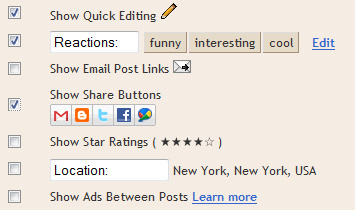 Official Social Sharing Buttons on Blogger