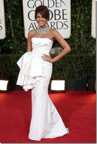 eva mendes 66th Annual Golden Globes 2009. Eva Mendes in Dior.