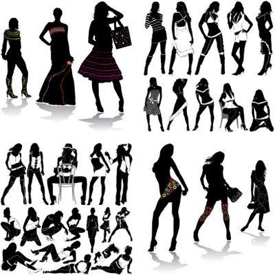 Enlace | Descargar ~ Vía | Recursos 2D: nestavista.com/2009/07/siluetas-de-mujeres-sexys.html