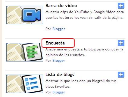 crear encuestas en blogger