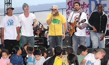 Juanes cantó en Dia Mundial de la Paz