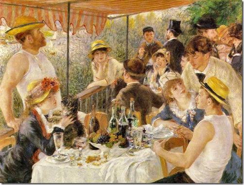 Le Dejeuner des canotiers - Pierre Auguste Renoir