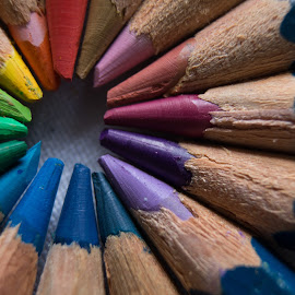 colors  by Johanna Van Niekerk - Novices Only Macro ( pencil, macro, creative, colorful, colors, pencils,  )