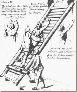 potro en la escalera