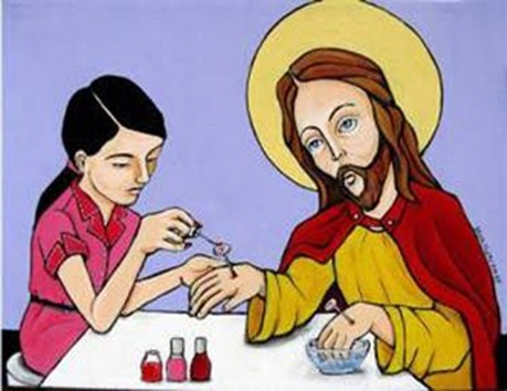 Jesus-nails colourful