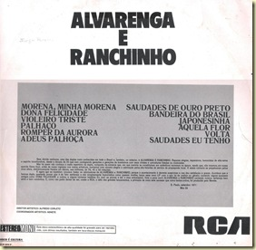 Contracapa (1971 - Alvarenga e Ranchinho)II