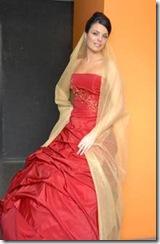 Vestidos de noiva de Cristina Lopes - vestido vermelho - Estilistas criadores de moda noiva casamento - 2010
