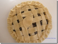 Blueberry pie ready