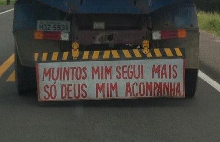 Frases De Parachoque De Caminhão Folclore