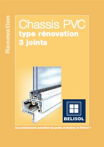Fenêtres PVC 3 joints de rénovation