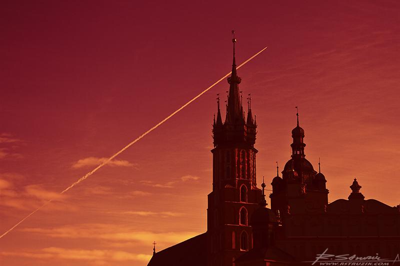 Kraków, Rynek. Kościół Mariacki.