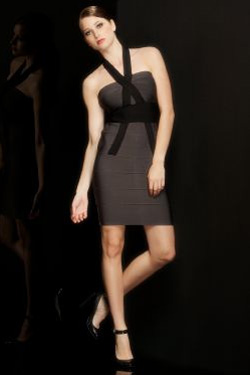 HERVE LEGER KNIT in Gunmetal