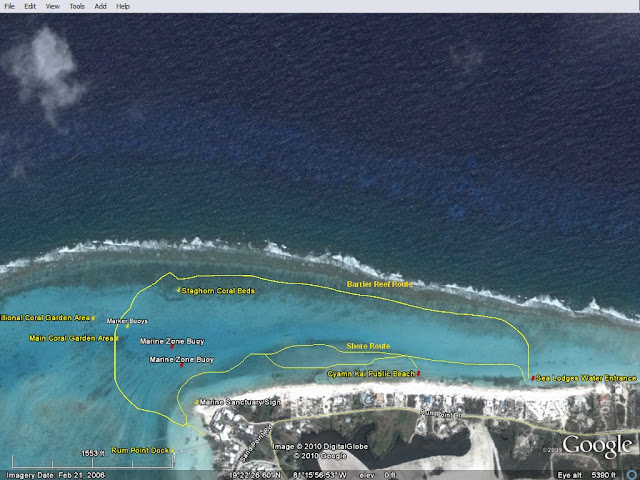 Rum Point Shore Snorkel Route