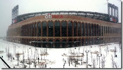 Citi Field in winter