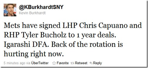 Mets sign Chris Capuano