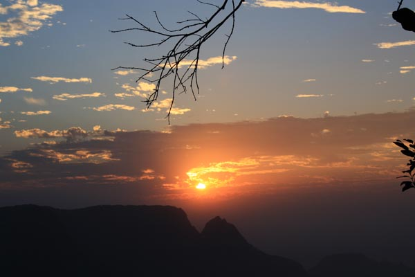 Sunset at Matheran Hill Station