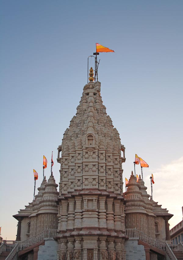 Swaminarayan Temple in Dwarka - Full View