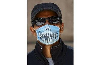 Shark Teeth Swine Flu Mask