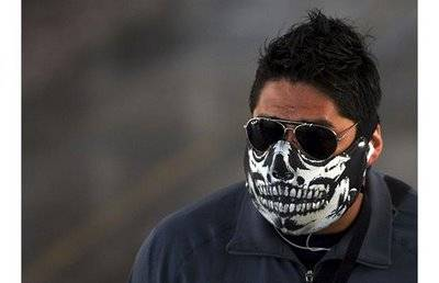 Skeleton Swine Flu Mask