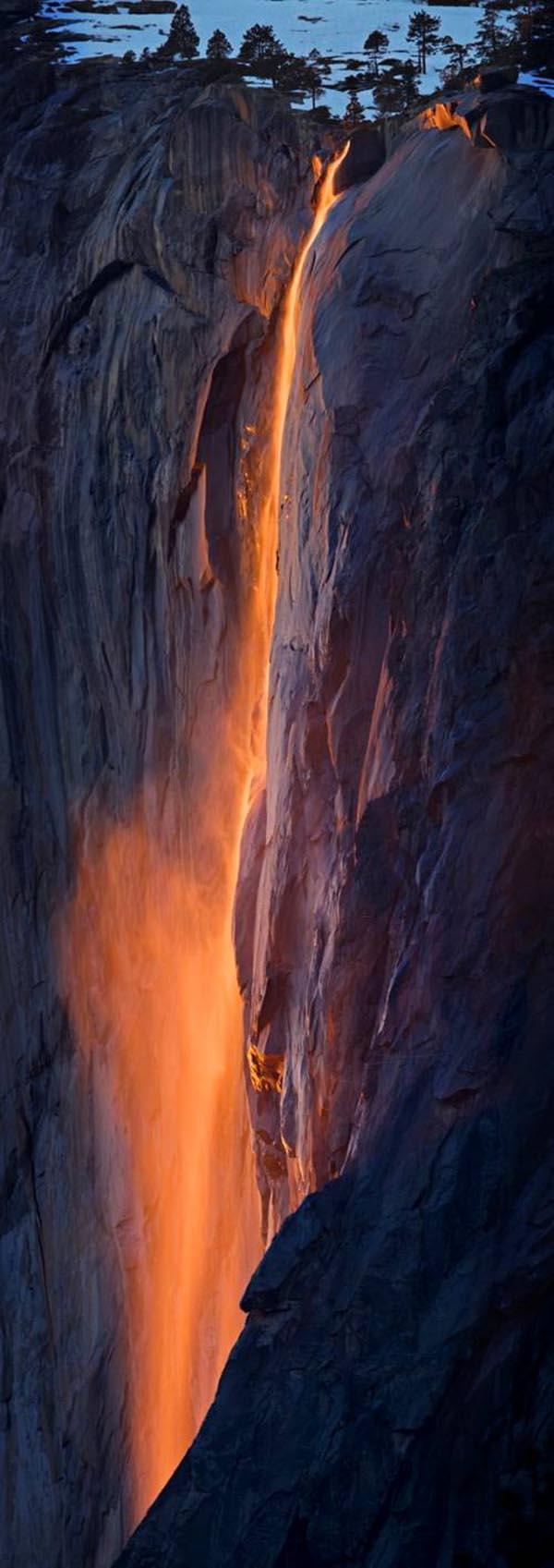 fire falls yosemite