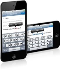 teclado facetime ipod touch 4G IOS 4.2