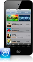 app store  ipod touch 4G IOS 4.2
