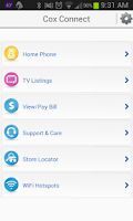 Screenshot of Cox Mobile Connect