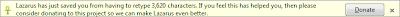 Пример сообщения дополнения Firefox Lazarus с просьбой пожертвовать деньги на развитие проекта