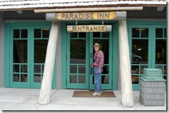 13 Pete at paradise Inn entrance