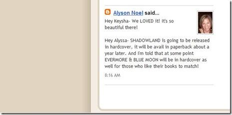 respuesta de Alyson