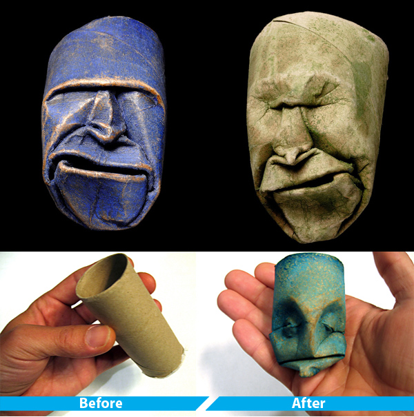 Toilet Paper Roll Sculptures by Junior Jacquet