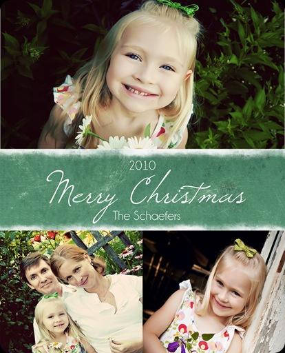 Shaeffer Christmas Card front