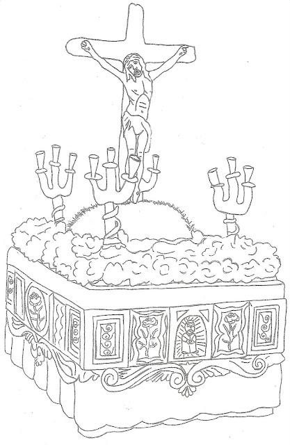 Dibujos de procesiones y pasos de semana santa - Pasos para pintar ...