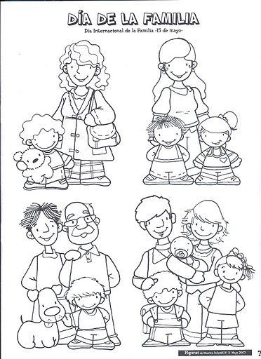 Dibujos dia de la familia para colorear for Concepto de la familia para ninos