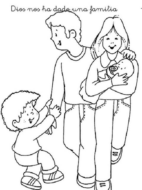 DIBUJOS DIA DE LA FAMILIA PARA COLOREAR