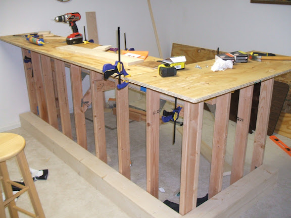 The learn as i go theater bar build avs forum home for How to build a wooden table from scratch