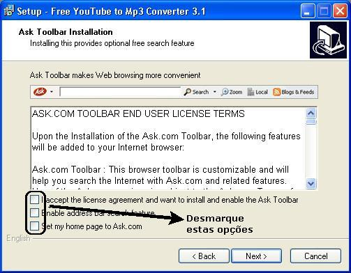 remove ask toolbar