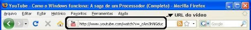 url do video do youtube